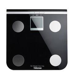 Tristar WG-2424 balança de casa de banho Balança pessoal eletrónica Quadrado Preto