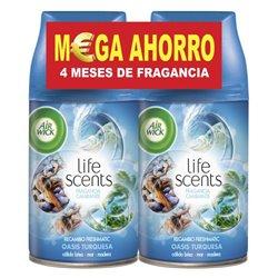 Recambio para ambientador Air Wick FreshMatic Duplo Life Scents Oasis Turquesa 250 ml (Pack de 2)