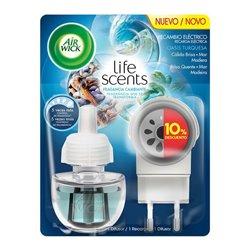 Ambientador eléctrico Air Wick Life Scents Oasis Turquesa