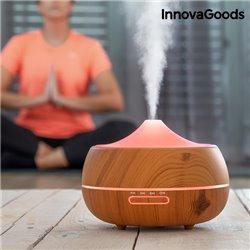 Humidificador Difusor de Aromas LED Wooden-Effect InnovaGoods