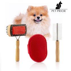 Set de Escovas para Cães Collection Pet Prior (3 Peças)
