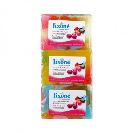 Savon en Glycérine Naturelle Tutti-frutti Lixoné (3 uds)