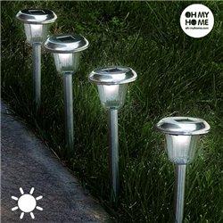 Torche Lumière Solaire Circulaire Oh My Home (Pack de 4)
