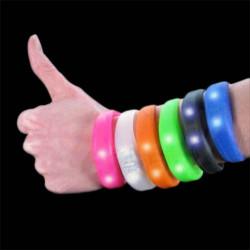 Pulseira de silicone Blink Bandz Transparente