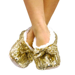 Soft Ballerina Shoes with Sequins Red L