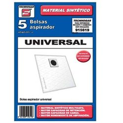 Universal Replacement Bag for Vacuum Cleaner Tecnhogar 915619 (5 uds)
