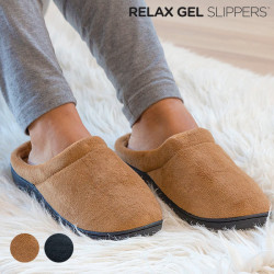 Relax Gel Slippers Brown M