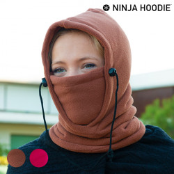 Ninja Hoodie Multifunktions-Kapuze Braun