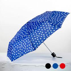 Polka Dot Folding Umbrella Blue