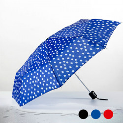 Polka Dot Folding Umbrella Black
