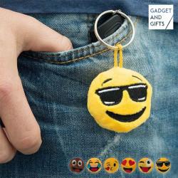 Emoticon Schlüsselanhänger aus Plüsch Wink