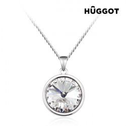 Hûggot Balance Rhodium-Plated Pendant Created with Swarovski®Crystals (40 cm)