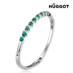 Hûggot Diane Rhodium-Plated Bracelet Created with Swarovski®Crystals (Ø 5 cm)
