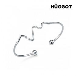 Bracelet Réglable en Argent Massif 925 Life Hûggot Fabriqué avec des Cristaux Swarovski®