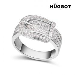"""Rhodinierter Ring mit Zirkoniasteinen Belt Hûggot """"18,1 mm"""""""