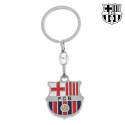 Porta-Chaves Prateado F.C. Barcelona