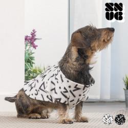 Manta com Mangas para Cães Symbols Snug Snug One Doggy Branco