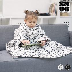 Manta com Mangas Infantil Symbols Snug Snug One Kids Branco