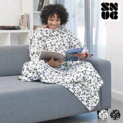 Manta com Mangas Symbols Snug Snug Big Kangoo Branco