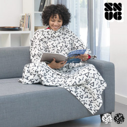 Symbols Snug Snug Big Kangoo Blanket with Sleeves White