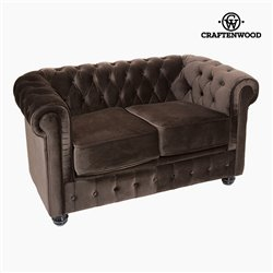 Divano Chesterfield a 2 Posti Velluto Marrone - Relax Retro Collezione by Craftenwood