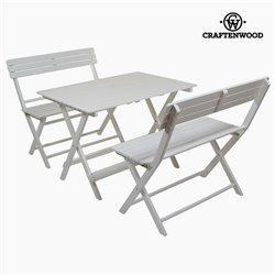 Conjunto de mesa com 2 cadeiras Madeira de álamo (100 x 70 x 70 cm) by Craftenwood