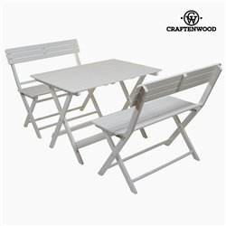 Tisch-Set mit 2 Stühlen Pappelholz (100 x 70 x 70 cm) by Craftenwood
