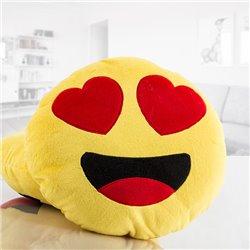 Herzaugen-Emoji Plüschkissen