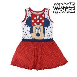 """Vestido Minnie Mouse 71969 Vermelho """"6 anos"""""""