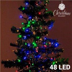 Bunte Weihnachtslichterkette (48 LED)