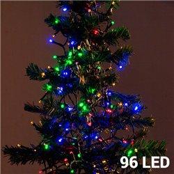 Multi-coloured Christmas Lights (96 LED)