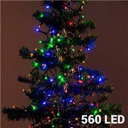 Luzes de Natal Policromáticas (560 LED)