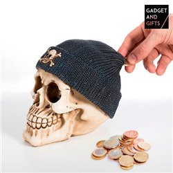 Skull Money Box with Pirate Hat