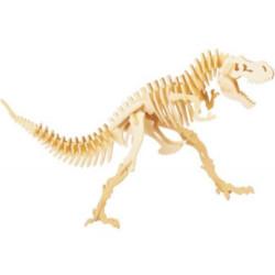 Puzzle de Esqueleto de Dinossauro em Madeira