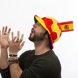 Fußballhut mit Spanischer Flagge