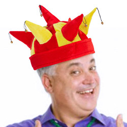 Spanish Flag Jester Hat with 7 Bells