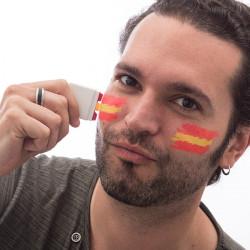 Gesichtsfarbe spanische Flagge