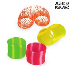 Springspirale in Neonfarben aus Plastik Rosa