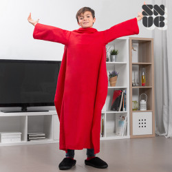 Extra Soft Snug Snug Kids Blanket with Sleeves Red