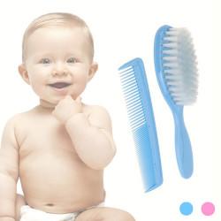 Baby-Haarbürste mit Kamm Rosa