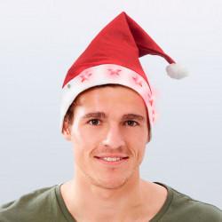 Weihnachtsmann-Mütze mit LED-Sternen