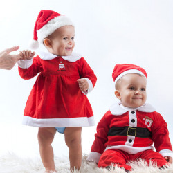 Costume da Babbo Natale per Bambini Niña