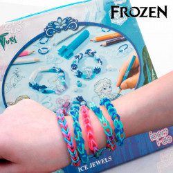 Élastiques pour Faire des Bracelets avec Perles Frozen
