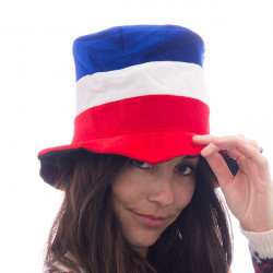 Mütze mit Frankreich-Flagge