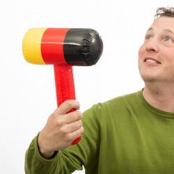 Aufblasbarer Hammer mit Deutschland-Flagge