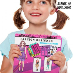 "Cuaderno de Moda para Niños Junior Knows ""Hair Stylist"""