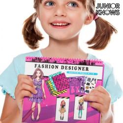 """Cuaderno de Moda para Niños Junior Knows """"Hair Stylist"""""""