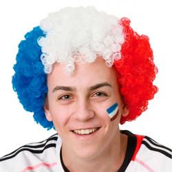 Parrucca Afro colori Bandiera Francese