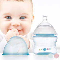 Slow Flow Feeding Bottle 150 mL Blue