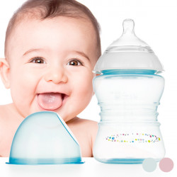 Slow Flow Feeding Bottle 250 mL Pink